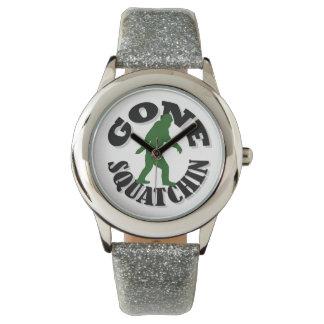 Gone Squatchin bigfoot Wristwatches