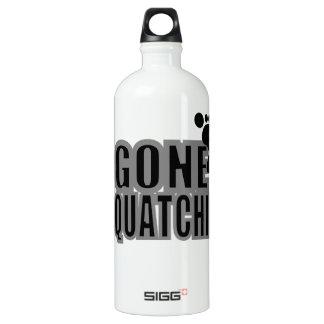 Gone Squatchin Black and Gray Logo Aluminum Water Bottle