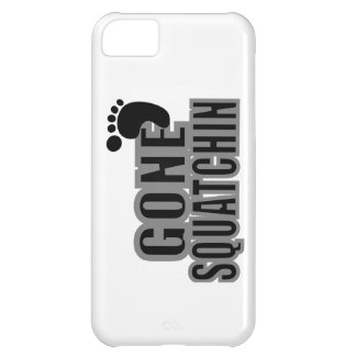 Gone Squatchin Black and Gray Logo iPhone 5C Case