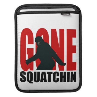 Gone Squatchin - Black and Red Sleeve For iPads