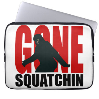 Gone Squatchin - Black and Red Laptop Sleeve