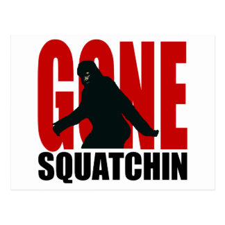 Gone Squatchin - Black and Red Postcard