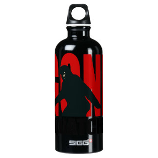 Gone Squatchin - Black and Red Water Bottle