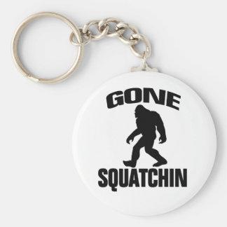 Gone Squatchin - Black and white Key Chains