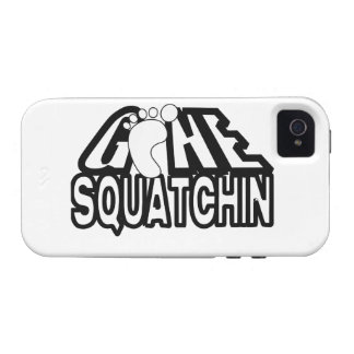 Gone Squatchin Black And White Logo Case-Mate iPhone 4 Case