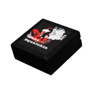 Gone Squatchin, black bigfoot Gift Box