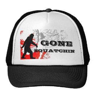 Gone Squatchin, black bigfoot Trucker Hat