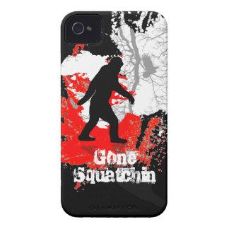 Gone Squatchin, black bigfoot iPhone 4 Case