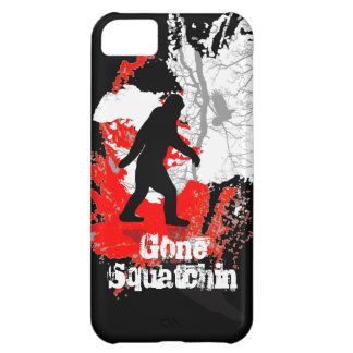 Gone Squatchin, black bigfoot iPhone 5C Cover