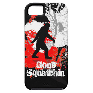 Gone Squatchin, black bigfoot iPhone SE/5/5s Case
