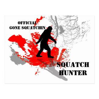 Gone Squatchin, black bigfoot Postcard