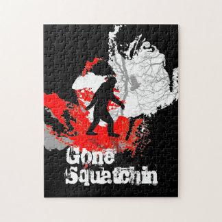 Gone Squatchin, black bigfoot Puzzle
