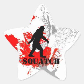 Gone Squatchin, black bigfoot Sticker
