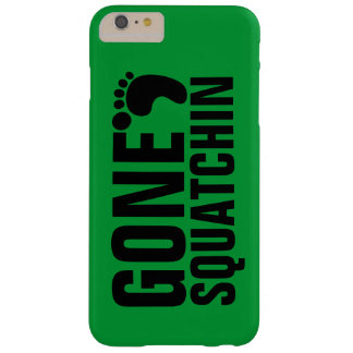 GONE SQUATCHIN BLACK GREEN BARELY THERE iPhone 6 PLUS CASE