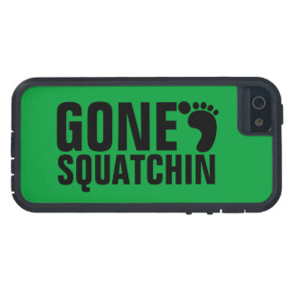 GONE SQUATCHIN BLACK GREEN iPhone 5 CASES