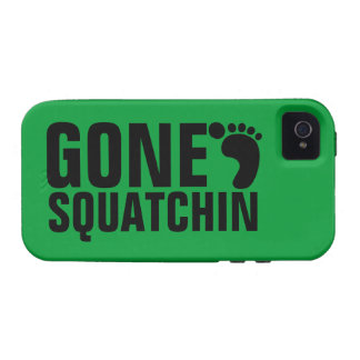 GONE SQUATCHIN BLACK GREEN CASE FOR THE iPhone 4