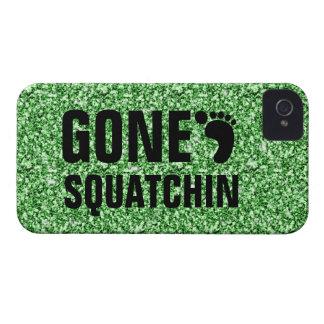 GONE SQUATCHIN BLACK GREEN GLITTER PHOTO Case-Mate iPhone 4 CASE