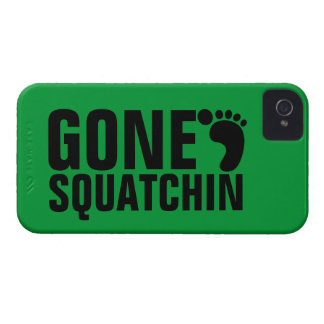 GONE SQUATCHIN BLACK GREEN iPhone 4 COVER