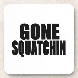 Gone Squatchin Black Logo Beverage Coaster