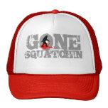 """Gone squatchin * black logo"""" trucker hat"""