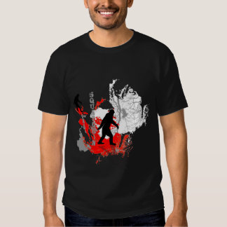 Gone Squatchin  *black  logo* woodland Tshirt