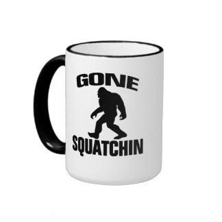Gone Squatchin - Black Silhouette Coffee Mugs