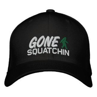 Gone Squatchin - black white and green Cap