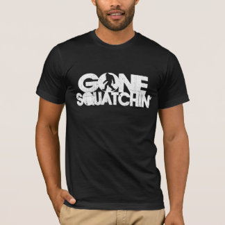 Gone Squatchin - Black / White Silhouette T-Shirt