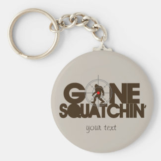 Gone Squatchin - Brown and tan Keychain
