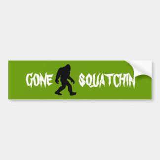 Gone Squatchin Car Bumper Sticker