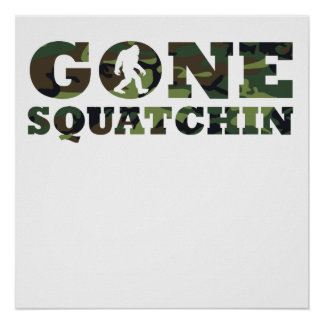 Gone Squatchin' Camouflage Print