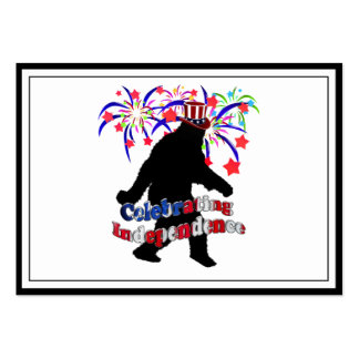 Gone Squatchin - Celebrating Independence Large Business Cards (Pack Of 100)
