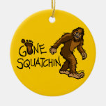 Gone Squatchin Christmas Ornament