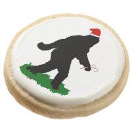 Gone Squatchin' ~ Christmas Squatchin' Round Premium Shortbread Cookie