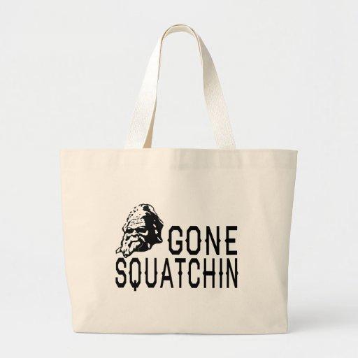 Gone Squatchin - Cool Sunglass Version B&W Bags