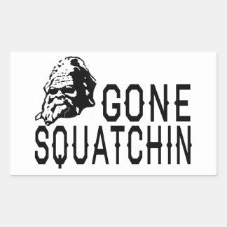 Gone Squatchin - Cool Sunglass Version B&W Rectangular Sticker