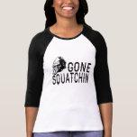 Gone Squatchin - Cool Sunglass Version B&W T Shirt