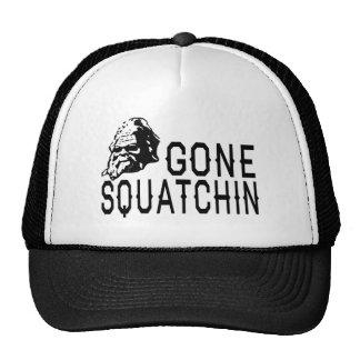 Gone Squatchin - Cool Sunglass Version B&W Trucker Hat