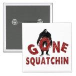 Gone Squatchin - Crayon Style Squatcher Pinback Buttons
