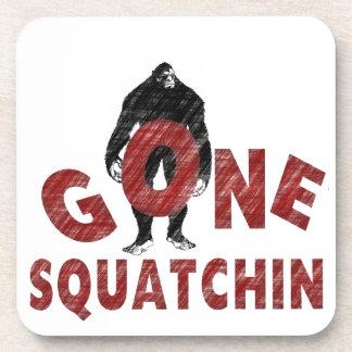Gone Squatchin - Crayon Style Squatcher Beverage Coaster