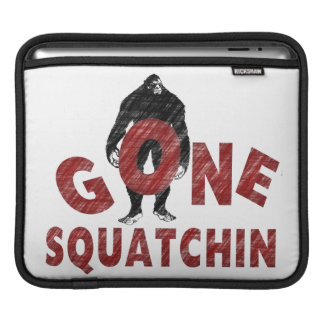 Gone Squatchin - Crayon Style Squatcher Sleeves For iPads