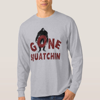 Gone Squatchin - Crayon Style Squatcher T-Shirt