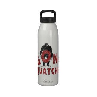 Gone Squatchin - Crayon Style Squatcher Water Bottles