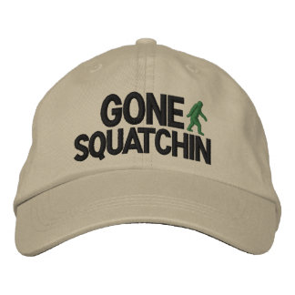Gone Squatchin Deluxe version Embroidered Hats