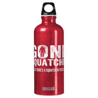 Gone Squatchin (Distressed) Squatch in these Woods Water Bottle