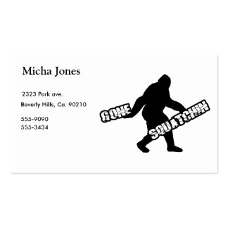 Gone Squatchin Double-Sided Standard Business Cards (Pack Of 100)