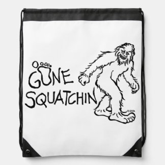 Gone Squatchin Drawstring Backpack