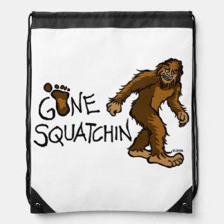 Gone Squatchin Drawstring Bag