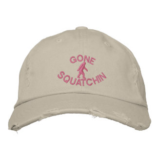 Gone squatchin embroidered baseball hat