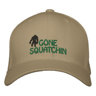 Gone Squatchin Embroidered Cap Embroidered Baseball Caps